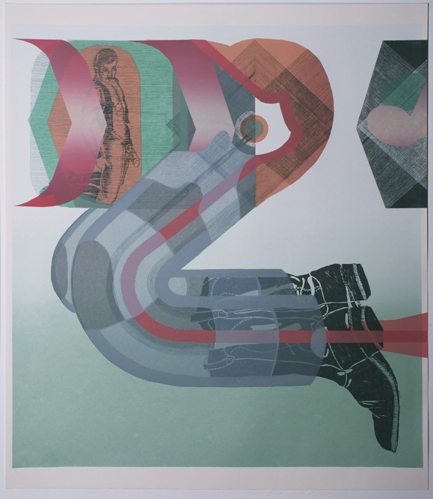 """""""Torso and Yes"""" - 22'' X 26'' - screen print on paper"""