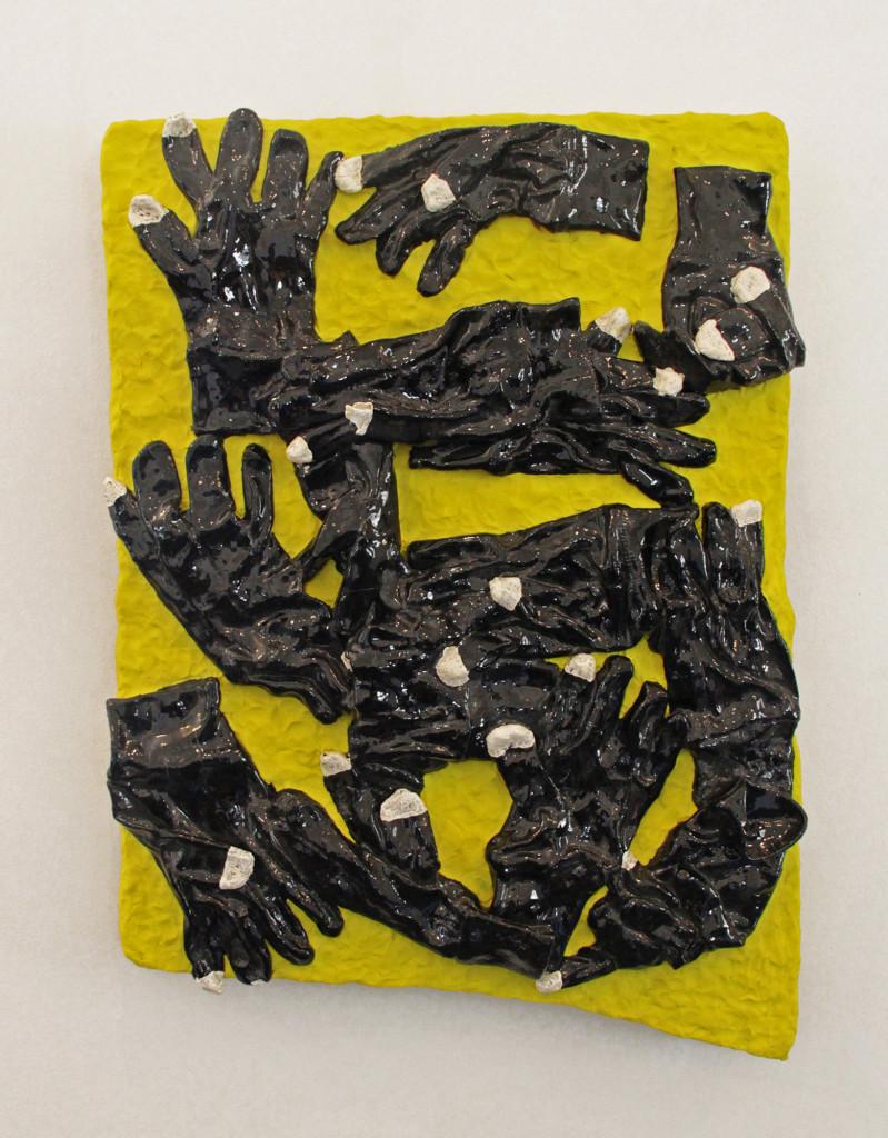 """""""E Touch"""" - Glazed Ceramic, Animation Clay - 18'' X 27''"""